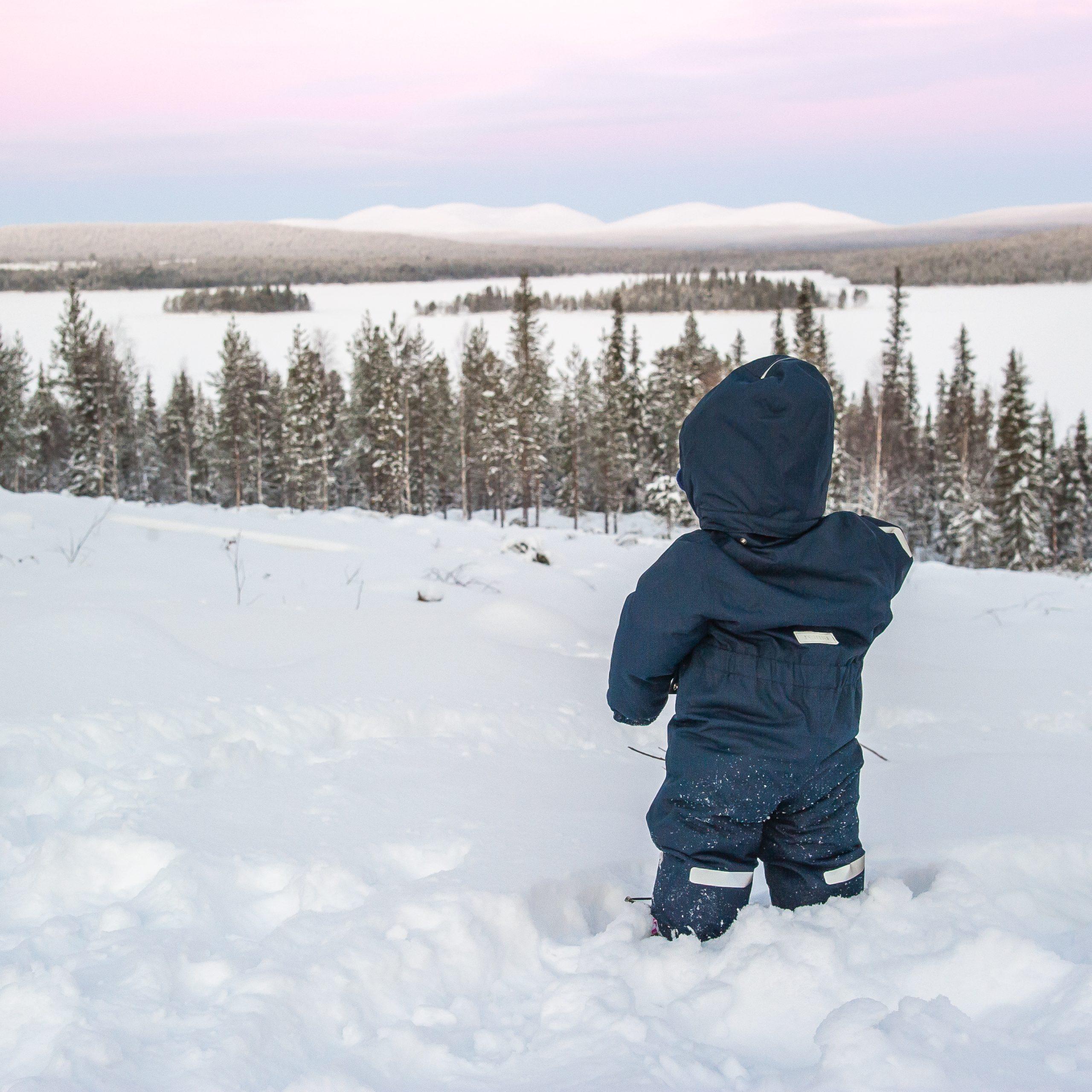 Boy looking at pallas fells